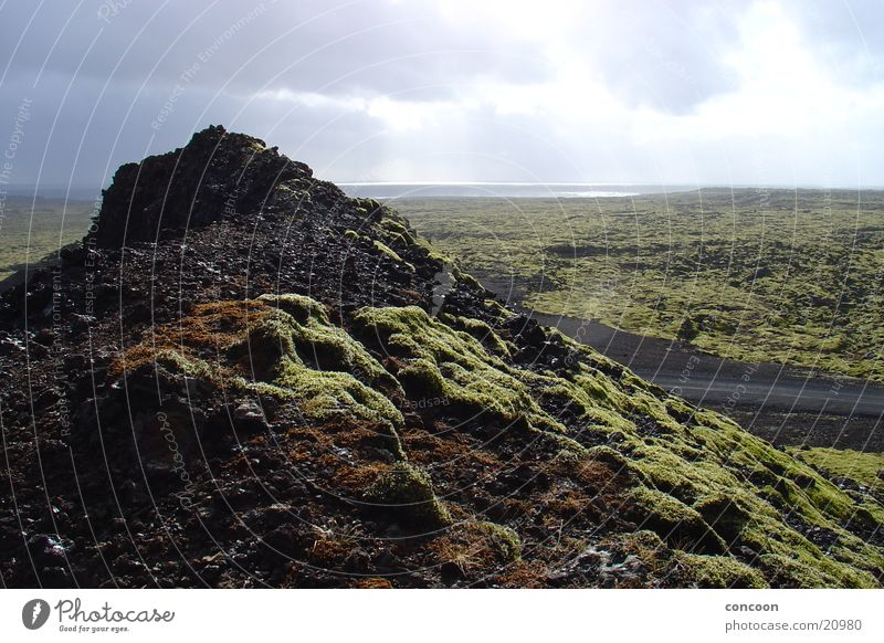 Beautiful Sun Far-off places Landscape Empty Iceland Lava field