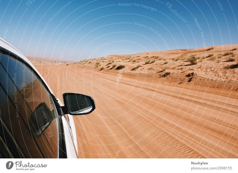 off-Road car ride on road in desert Sky Nature Vacation & Travel Blue Landscape Street Sports Tourism Sand Trip Park Transport Car Earth Adventure Driving