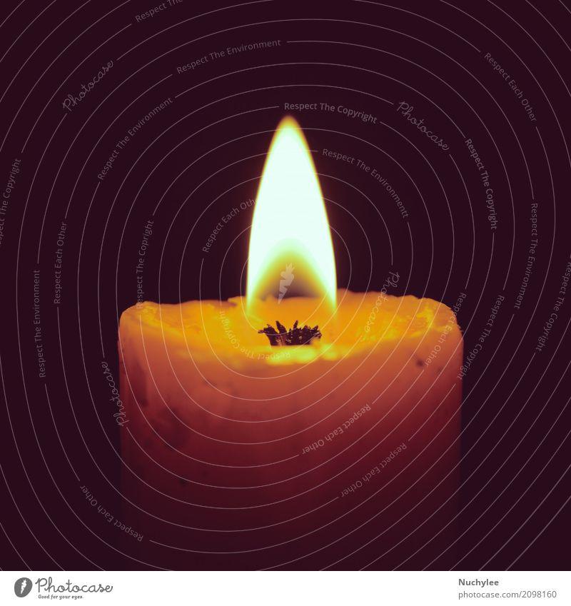 Burning candle on black Meditation Feasts & Celebrations Christmas & Advent Church Candle Love Sadness Dark Retro Yellow Black Romance Hope Death Peace