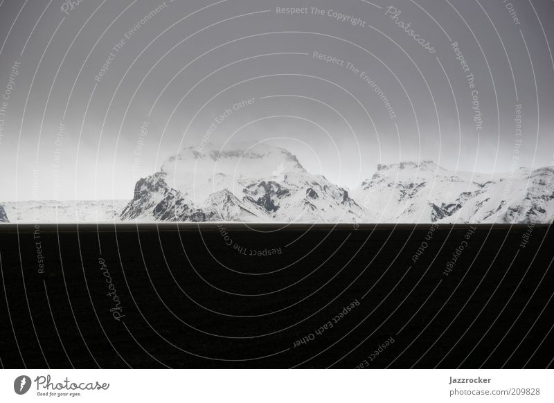 Nature Winter Mountain Landscape Environment Iceland Bad weather Snowcapped peak Image format