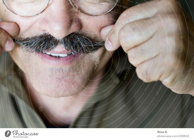 Human being Man Face Adults Life Senior citizen Hair and hairstyles Happy Masculine Nose Fingers Authentic Eyeglasses Teeth Smiling 45 - 60 years