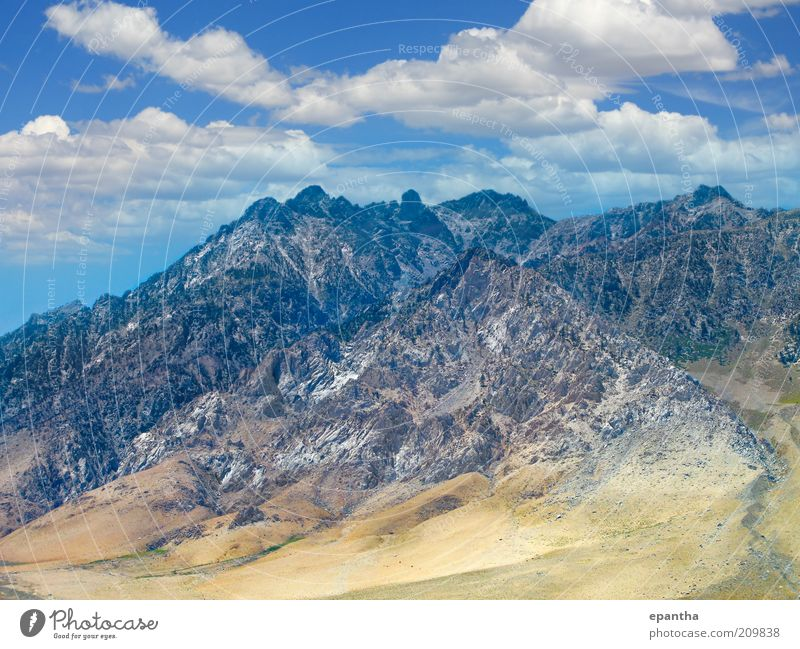 Sierra Nevada Mountains Sky Nature Beautiful Summer Vacation & Travel Clouds Far-off places Mountain Landscape Environment Tall Rock Natural Hill Peak USA