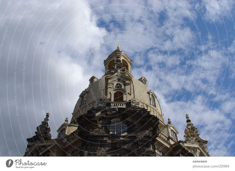 Church of Our Lady Dresden Manmade structures Work of art Clouds Saxony Architecture Religion and faith Charity Baroque Sky Contrast