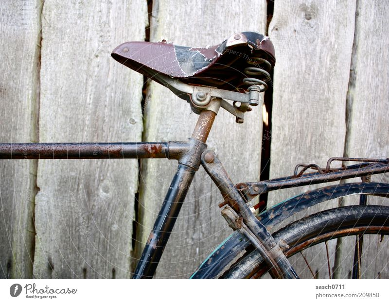Old Wood Brown Bicycle Dirty Broken Change Transience Derelict Decline Rust Past Leather Nostalgia Section of image