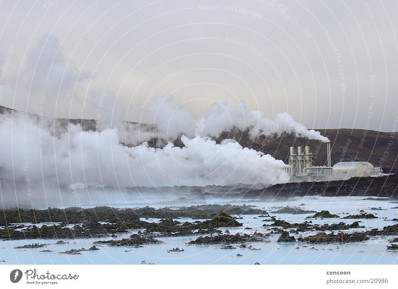 Blue Lagoon Iceland Steam Azure blue Hot Lava Europe Water eco-energy