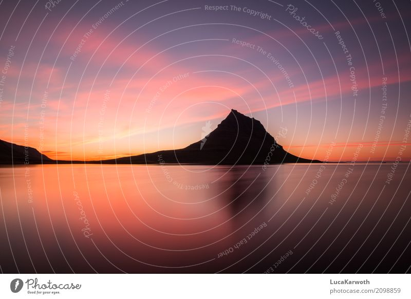 Silhouette of the Kirkjufell Vacation & Travel Tourism Adventure Far-off places Freedom Expedition Mountain Hiking Environment Nature Landscape Plant Elements