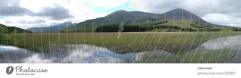 Nature Grass Mountain Lake Landscape Europe Pure Clarity Scotland Great Britain Reflection Plant
