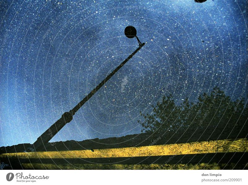 a hundred million stars Lamp Water Sky Night sky Stars Beautiful weather Street Far-off places Blue Colour photo Exterior shot Experimental Deserted