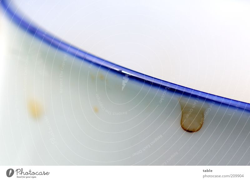 White Blue Bright Dirty Drop Crockery Dry Cup Diagonal Edge Mug Second-hand Coffee stain Beaker rim