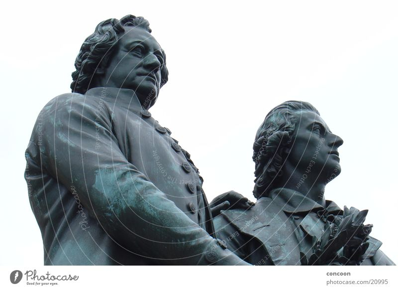 German celebrities Weimar Philosopher Famousness Fame Culture Education Legacy Human being Closed Pride Goethe-Schiller statue