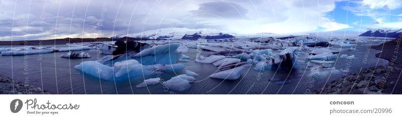 Blue Cold Ice Iceland Glacier Iceberg Natural phenomenon Azure blue
