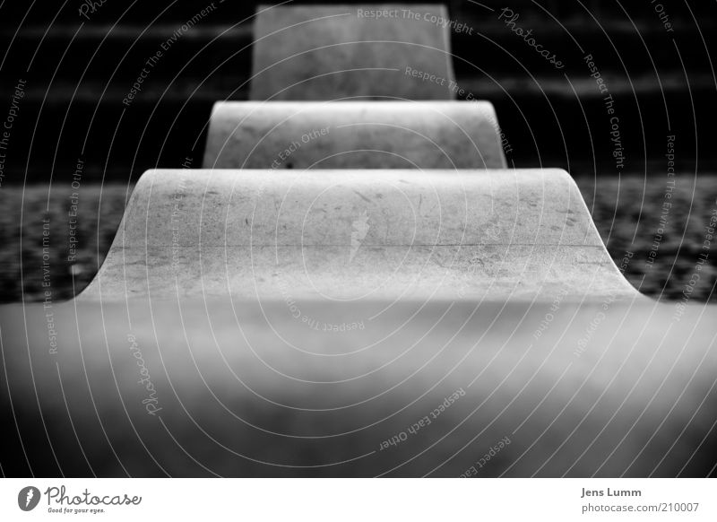 The Bend Stone Concrete Cold Thrifty Undulation Central perspective Old Black & white photo Exterior shot Deserted Day Blur Stairs Plan Paper