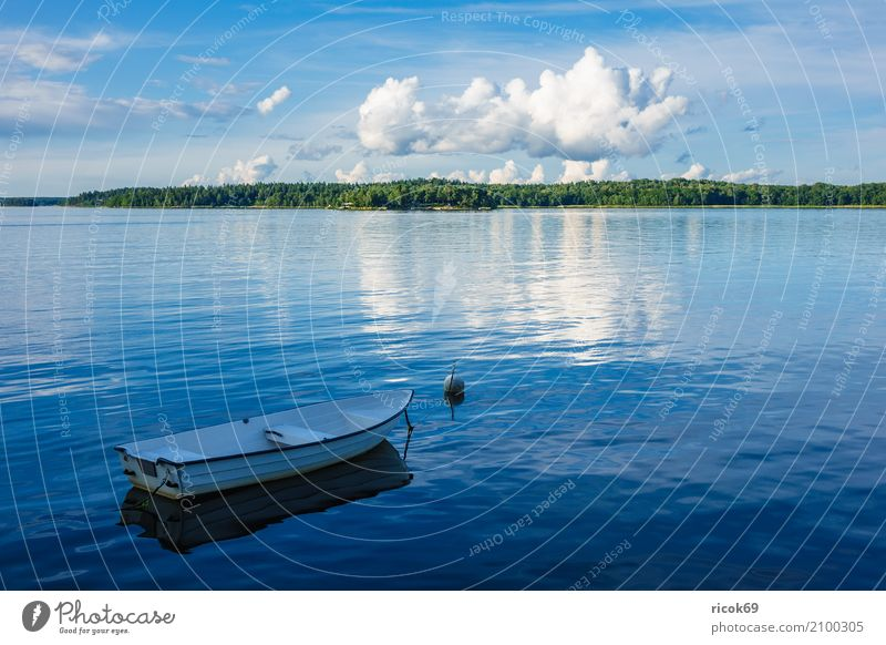 Nature Vacation & Travel Blue Green Tree Landscape Relaxation Clouds Coast Tourism Watercraft Idyll Island Baltic Sea Buoy Skerry