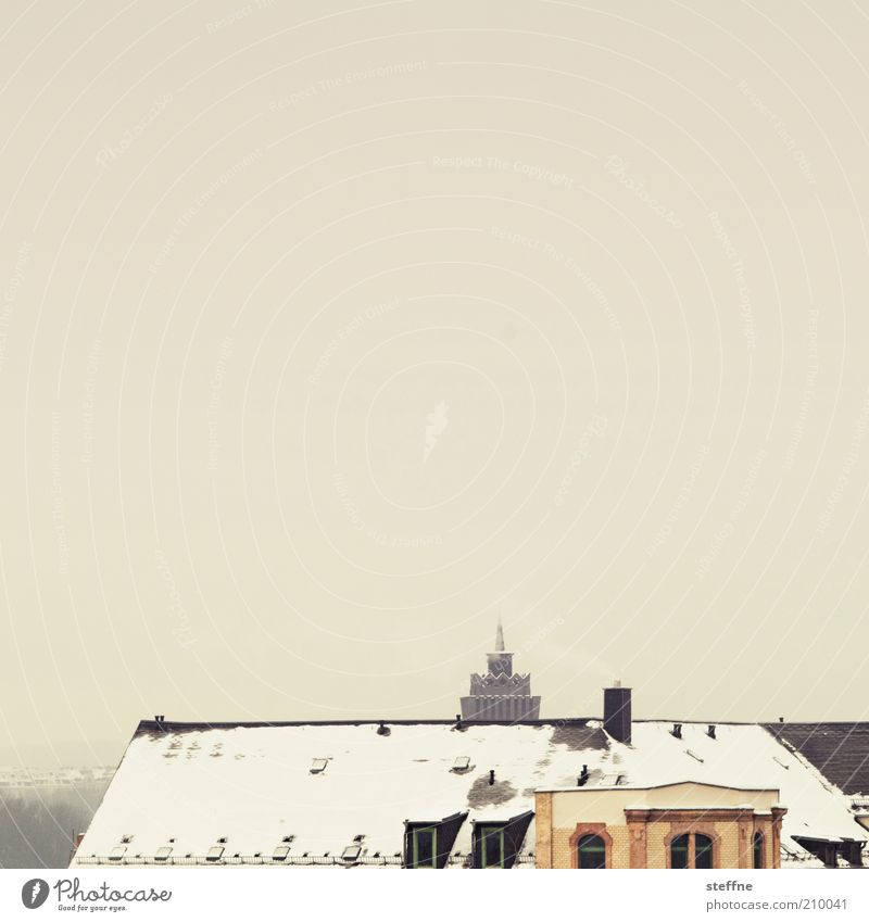 Winter House (Residential Structure) Cold Snow Building Roof Saxony Old town Chemnitz Clouds in the sky