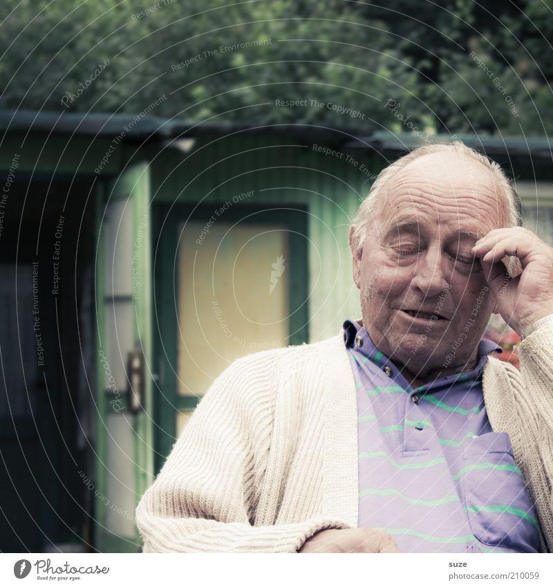 Human being Man Nature Old Green Adults Senior citizen Garden Think Door Sit Natural Masculine Authentic Break Meditative