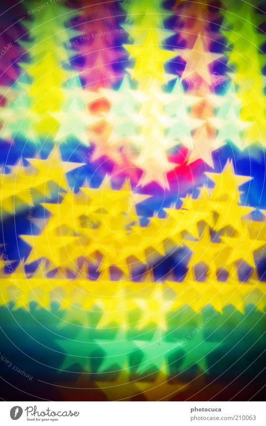 stars Many Star (Symbol) Multicoloured Fairy lights Lighting Abstract Background picture Prongs Beautiful Lamp Neon sign Illuminate