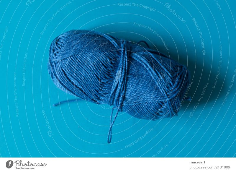 blue Ball of wool Wool Knot Colour Subsoil thread wool thread Craft (trade) Handcrafts Crochet Knit Embroider handcrafted Multicoloured Blue Sky blue