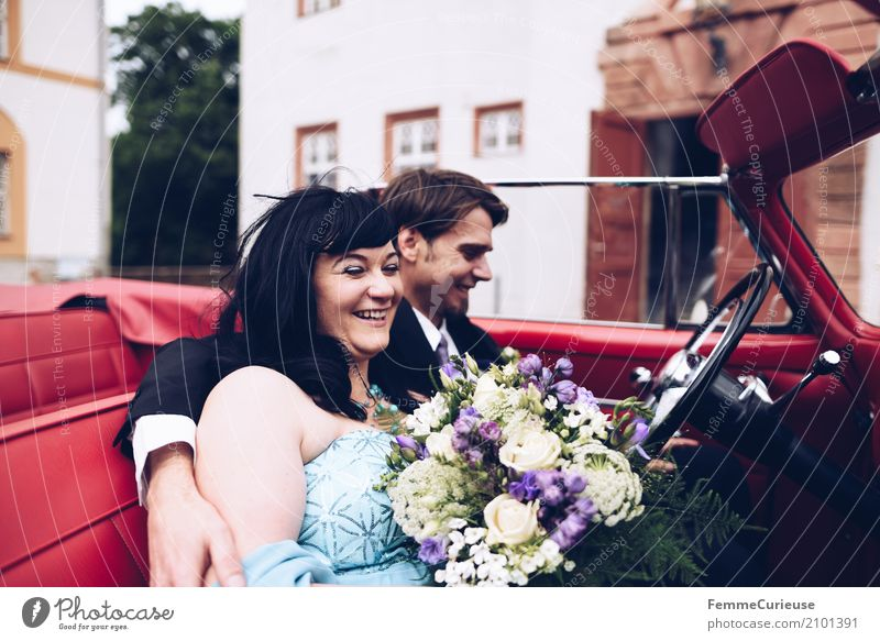 Human being Woman Youth (Young adults) Man Red 18 - 30 years Adults Love Feminine Happy Together Masculine Wedding Bouquet Castle Lovers