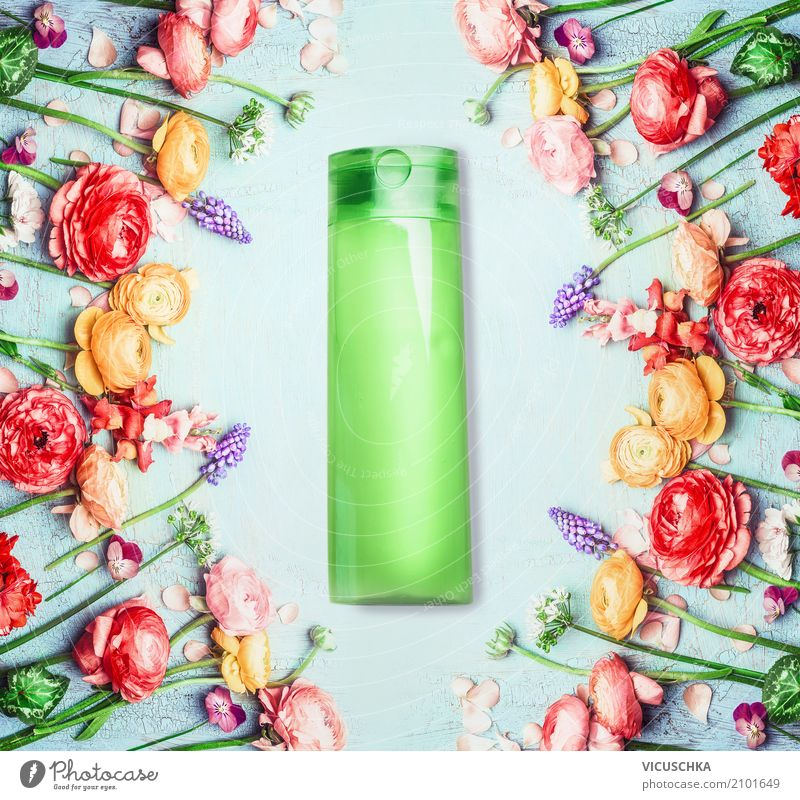 Nature Plant Beautiful Green Flower Leaf Blossom Healthy Style Design Wellness Personal hygiene Fragrance Cosmetics Packaging Cream