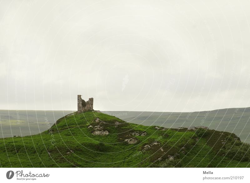 Nature Old Green Vacation & Travel Loneliness Far-off places Landscape Environment Gray Moody Time Trip Rock Broken Stand Tower