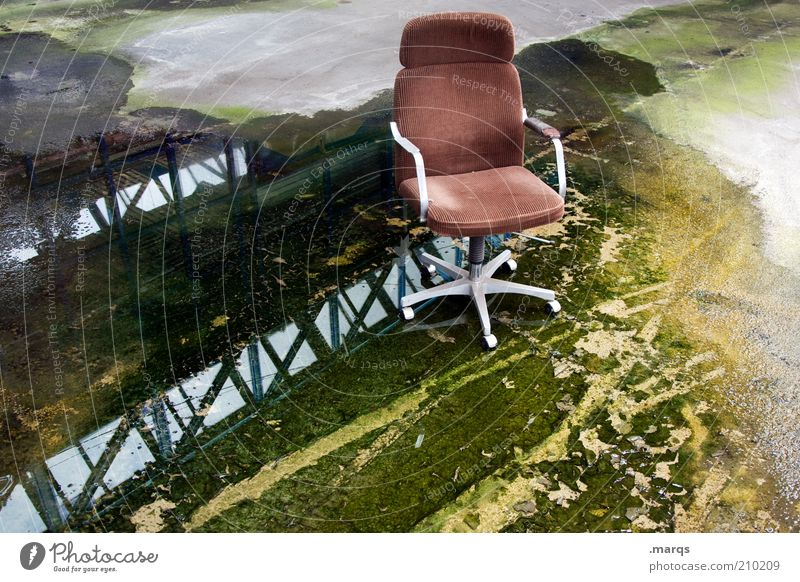 Old Loneliness Relaxation Style Business Brown Dirty Wet Empty Lifestyle Broken Change Chair Exceptional Transience Damp