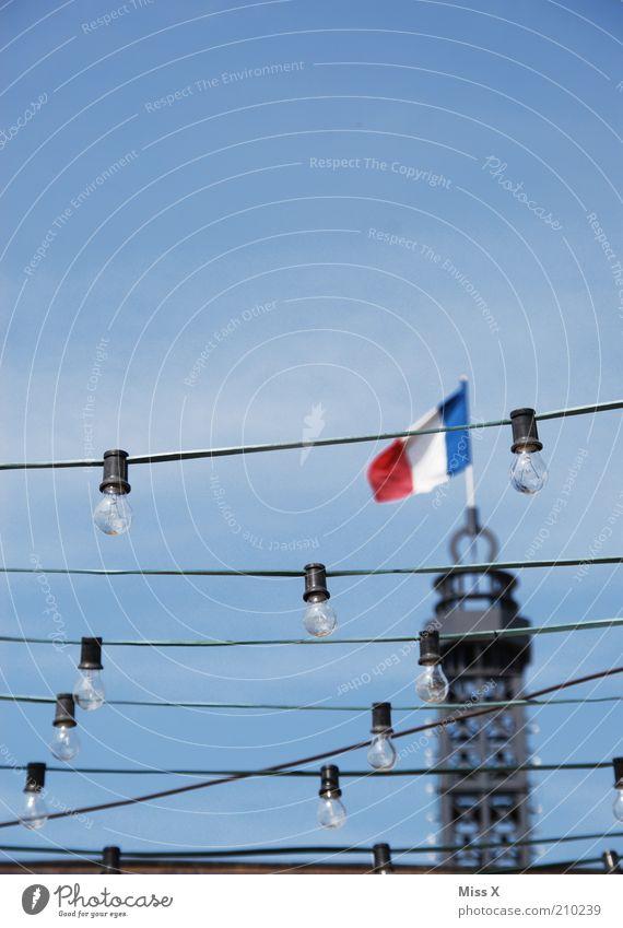 Feasts & Celebrations Tower Flag Paris Lantern Electric bulb Capital city Blow France Lampion Fairy lights Republic Patriotism Spire Ensign Tricolor