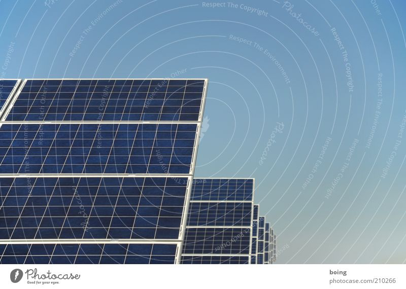 Energy Energy industry Electricity Future Technology Science & Research Solar Power Row Geometry Environmental protection Industrial plant Symmetry