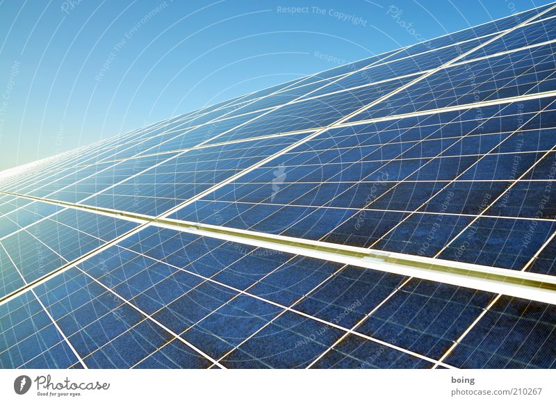 Energy Energy industry Electricity Future Technology Science & Research Solar Power Beautiful weather Geometry Environmental protection Symmetry Sustainability Advancement Solar cell High-tech Commercial