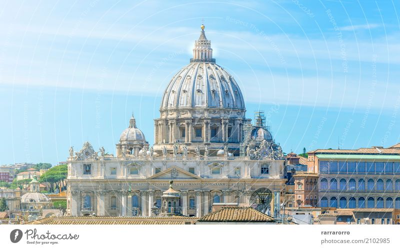 Vatican and Basilica of Saint Peter in Rome Beautiful Vacation & Travel Tourism Sky Town Church Bridge Building Architecture Monument Old Historic White