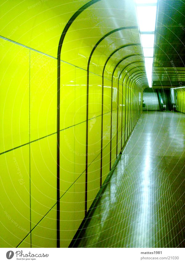Vacation & Travel Yellow Earth Germany Walking Bridge Threat Tunnel England Neon light Pedestrian London Underground Bonn Underpass