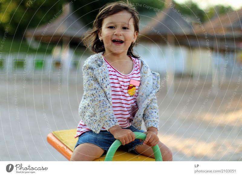 Happy girl playing Lifestyle Leisure and hobbies Playing Children's game Parenting Education Kindergarten School Schoolyard Schoolchild Human being Parents