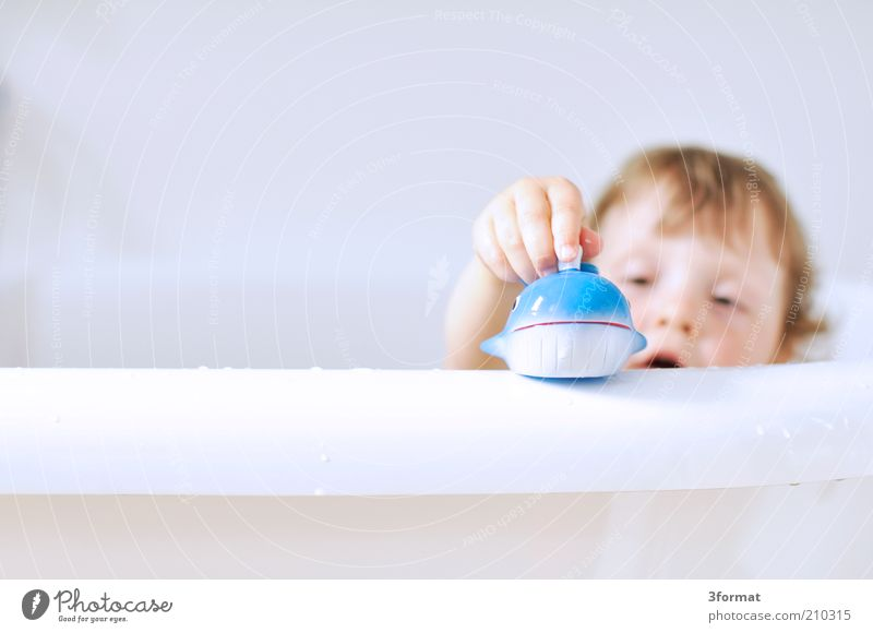 Human being Child Blue Hand White Girl Joy Animal Face Playing Happy Bright Swimming & Bathing Infancy Growth Fingers