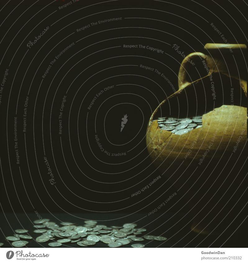 Old Dark Art Money Broken Historic Symbols and metaphors Broken Museum Save Ancient Exhibition Coin Money box Water jug