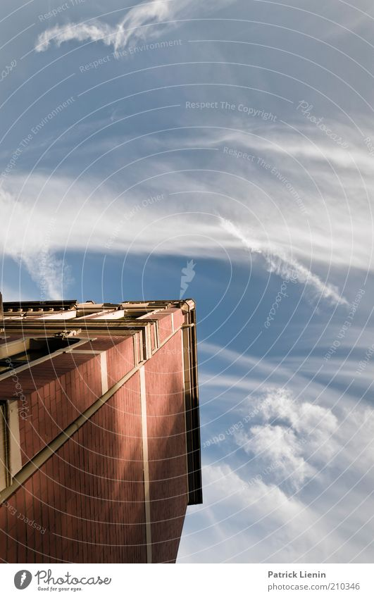 Clouds pass by Environment Sky Summer Beautiful weather Wind House (Residential Structure) Manmade structures Building Architecture Wall (barrier)