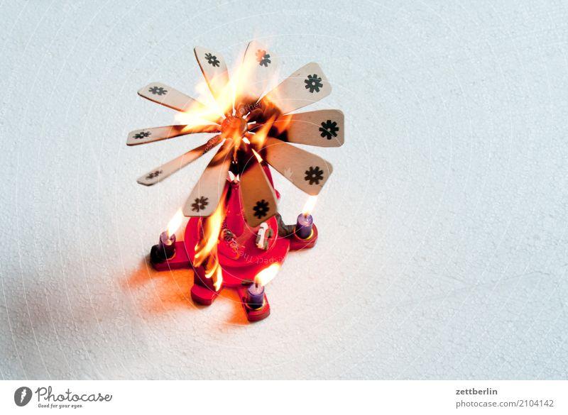 Christmas & Advent Anti-Christmas Copy Space Decoration Dangerous Threat Fire Blaze Risk Fairs & Carnivals Warning label Burn Flame Respect Insurance Fireman