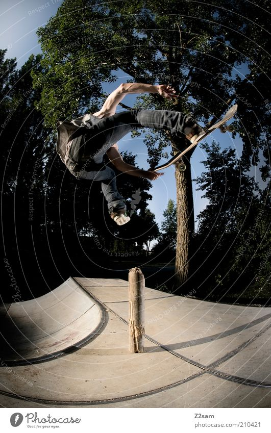 benihana Elegant Style Skateboarding Human being Masculine 18 - 30 years Youth (Young adults) Adults Nature Landscape Jeans Driving Flying Sports Jump Esthetic