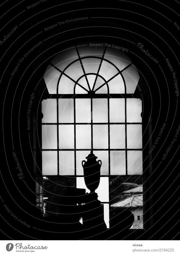 White Window Dark Black Architecture Building Death Stone Design Illuminate Glass Authentic Perspective Italy Historic Hope