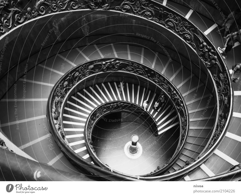 escargot Vacation & Travel Tourism Trip Sightseeing City trip Exhibition Museum Work of art Architecture Vatican Vatican Museums Italy Rome Capital city Stairs