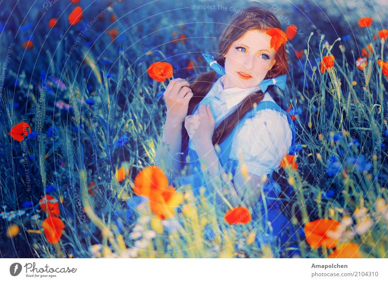 Human being Nature Vacation & Travel Youth (Young adults) Young woman Summer Landscape Flower Relaxation Calm 18 - 30 years Adults Life Blossom Meadow Feminine