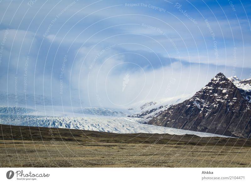 Iceland, Glacier Vacation & Travel Adventure Far-off places Freedom Nature Landscape Elements Clouds Frost Peak Uniqueness Apocalyptic sentiment Climate Complex