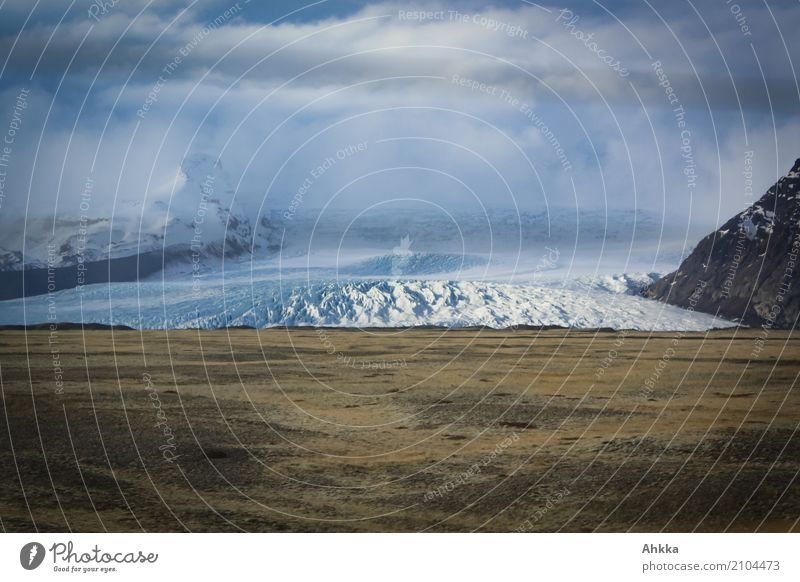 glacier wave Adventure Expedition Landscape Clouds Climate change Ice Frost Glacier Waves Iceland Fear of the future Dangerous Threat Speed Testing & Control