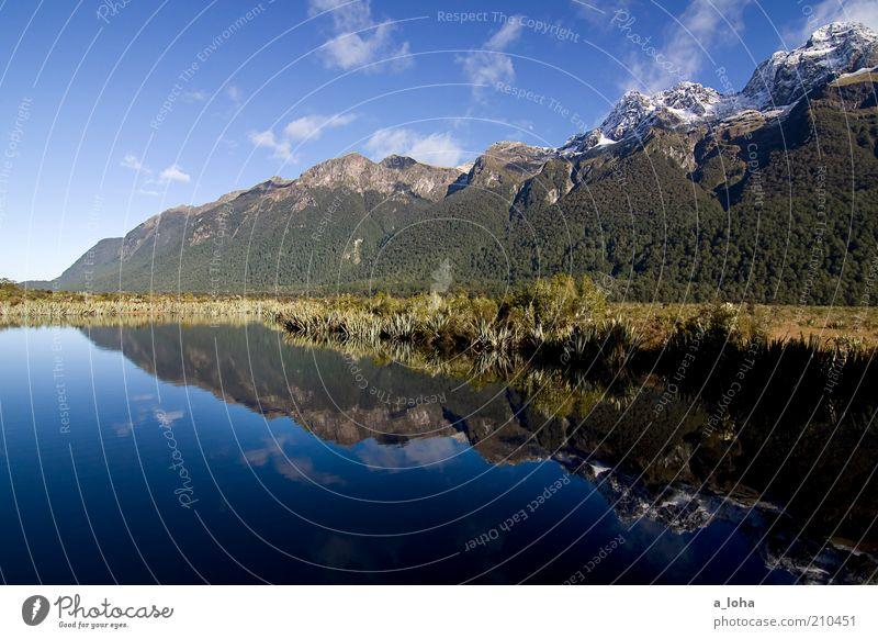twins Landscape Elements Water Clouds Sun Autumn Plant Alps Mountain Peak Snowcapped peak Lakeside Exceptional Glittering Beautiful Wanderlust Loneliness