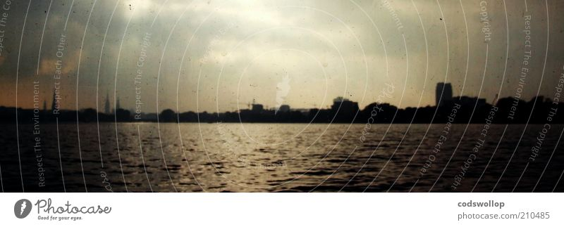 Water Sky Far-off places Lake Landscape Hamburg Horizon Esthetic Idyll Skyline Alster Banks of the Alster