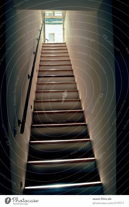 High Quality Flat (apartment) Tall Stairs Level Long Interior Design Upward Downward  Banister Go Up Staircase