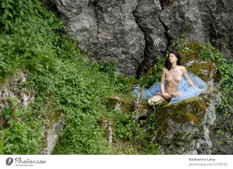 Human being Woman Nude photography Nature Beautiful Summer Loneliness Adults Relaxation Landscape Feminine Eroticism Mountain Naked Spring Freedom