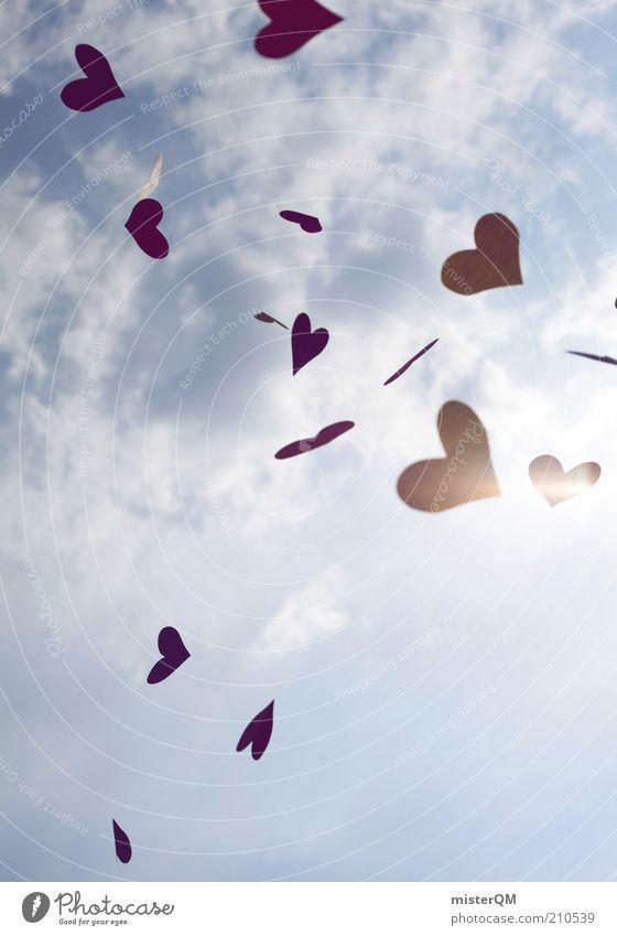 Sky Summer Red Love Emotions Freedom Dream Heart Esthetic Many Creativity Idea Joie de vivre (Vitality) Abstract Lovesickness