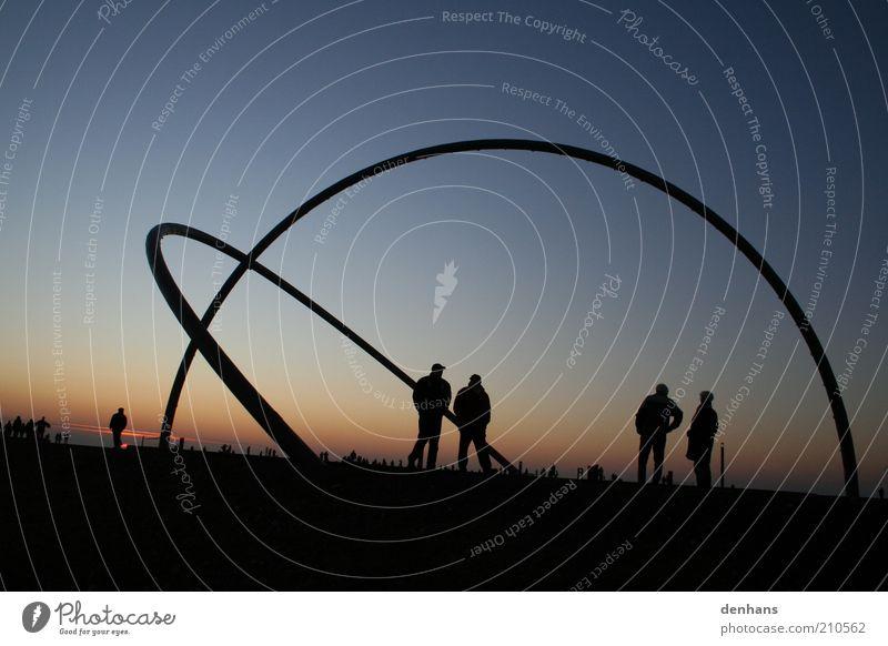 arch Harmonious Calm Meditation Tourism Trip Freedom Sightseeing Science & Research Human being 4 Sculpture Herten Landmark Halde Hoheward Observe To talk
