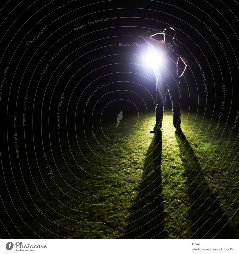Human being Man Adults Meadow Lanes & trails Time Masculine Dream Stand Perspective Observe Curiosity To hold on Surprise Brave Concentrate