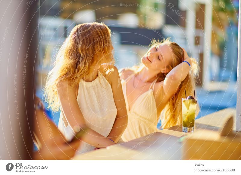 Human being Youth (Young adults) Young woman Beautiful Joy 18 - 30 years Adults Emotions Feminine Laughter Happy Together Friendship Leisure and hobbies
