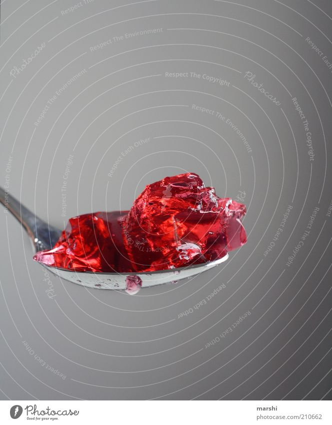 The food of the gods (300) Food Dessert Candy Nutrition Sweet Red Appetite Delicious Tasty Sense of taste Flavorsome Sugar Unhealthy Spoon Jelly Consistency
